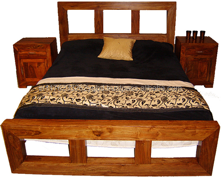 Solid Mango Wood King Size Bed