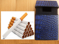 Origional crocodile Leather Cigarette Case Blue Color