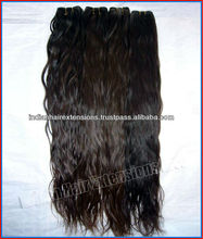 High Quality Wholesale Natural Colour 100% Unprocessed Virgin Indian Hair