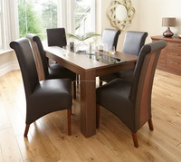 Joanna Dining Table with Top Glass