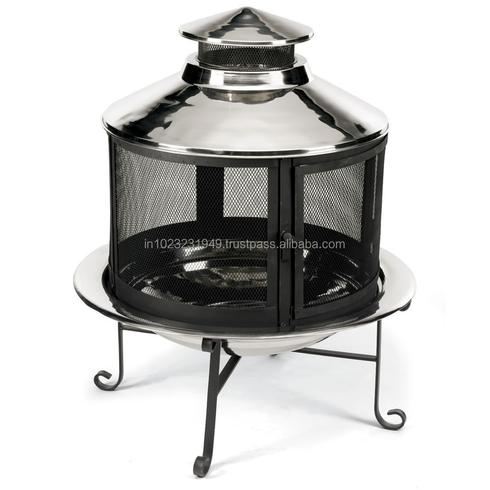 Fire pit with Chimney Black Finish FPC- 510