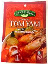 3 side sealing instant tom yam paste bag, 3 side metalized bag seal, tom yam sauces plastic bag