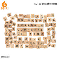 Scrabble Tiles - NEW Scrabble Letters - Wood Pieces Complete Sets - Great for Crafts, Pendants, Spelling