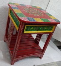 Indian wooden beautiful traditional home decorative chest/ table furniture