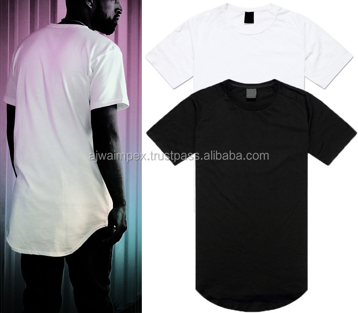 Elongated t shirts - Latest Style round bottom elongated t shirts - side zipper