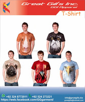sublimation custom men t shirt / animal print / pet shirt