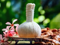 Thai Hot Compress Herbal Ball 100% Made in Thailand Natural Genuine Traditional Herbal Compress for Massage
