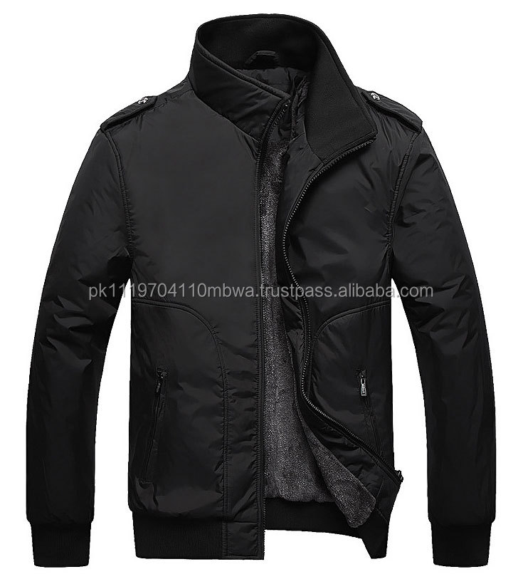 New Winter Jackets For Men Formal Leisure Coats Solid Business Casual Jacket Brand