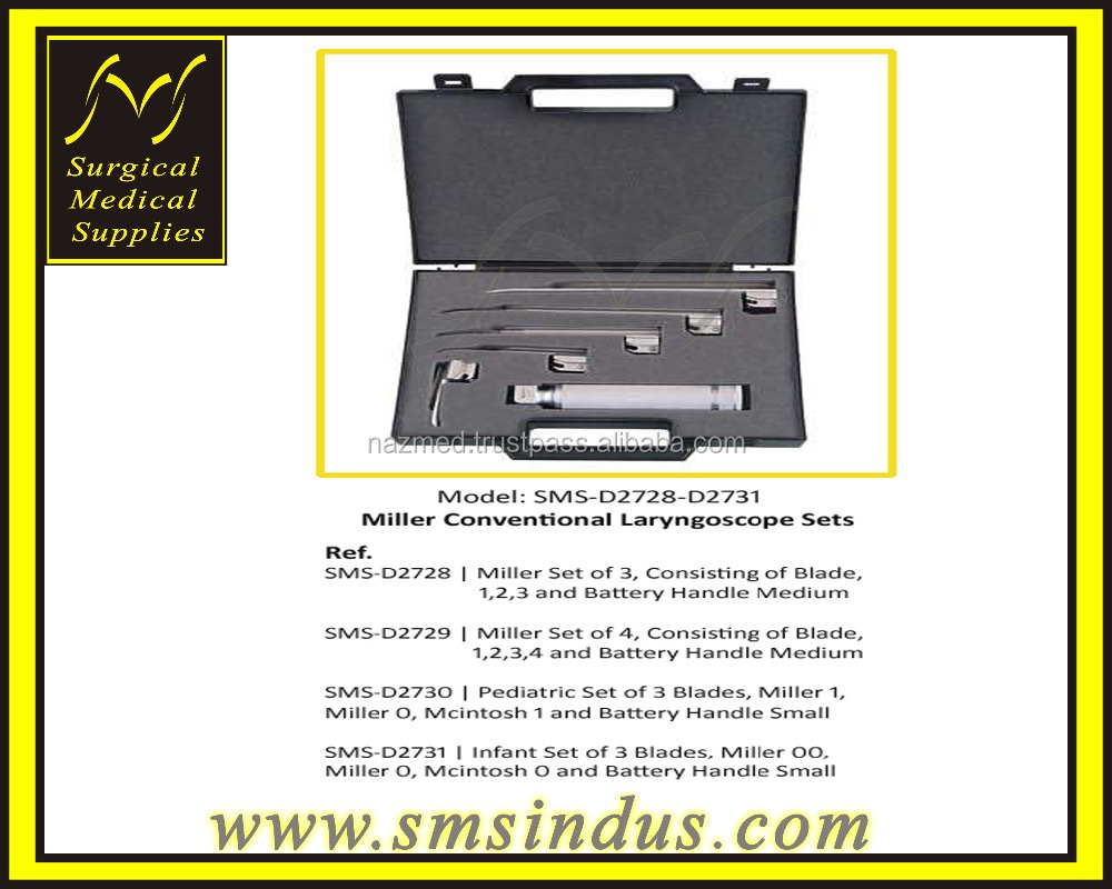 Miller Conventional Laryngoscope Sets