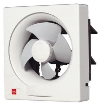 KDK 6'' Wall Ventilating Fan-Auto Shutter