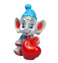 Ceramic money box coin bank cash box piggy bank Elephant with heart