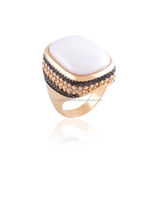 Fashion Ring with natural stone Brazilian jewelry