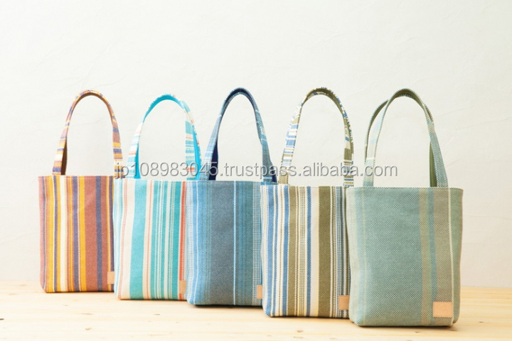 Japanese canvas cloth sail HANPU / HAMPU tote bag made in Japan for wholesale