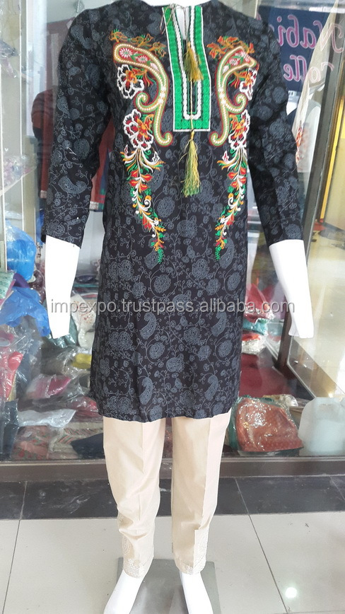 Ladies Cotton Kurtis with Cigarette / Embroidered Trousers