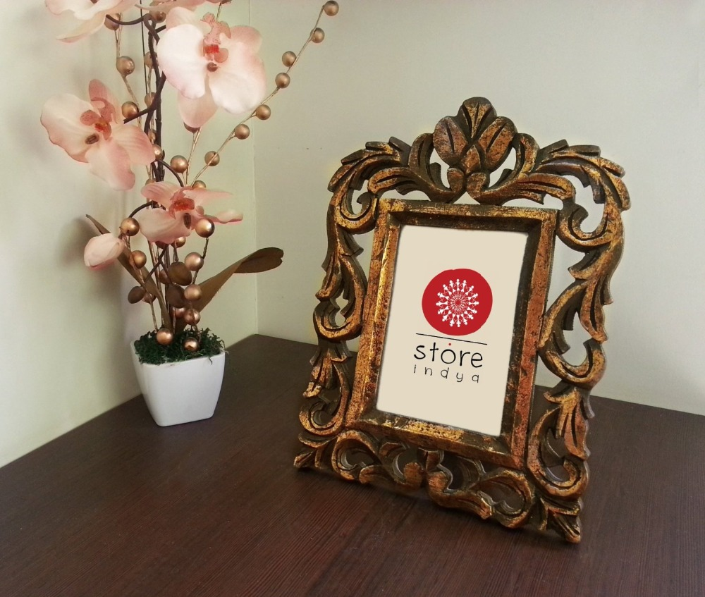 Store Indya Wood Single Photo Picture Frames with Mango Wood