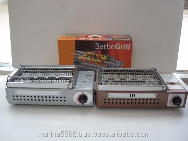 Barbecue grill stove (Infrared, skewer support, plastic case option) / Portable butane gas BBQ stove