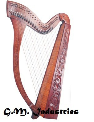 High Quality Harp 30 Strings made by rosewood