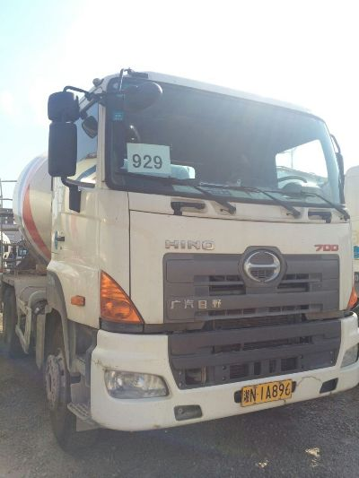 10cbm hino japan used condition concrete mixer HINO 700 truck mixer for sale