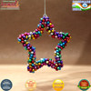 Multi color Christmas ornaments 2016 jingle bell Christmas tree decoration heart