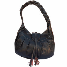Handmade black moroccan leather handbag wholesaler 01black