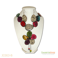 Necklaces And Earrings - Handmade Eco Ivory Tagua Jewelry (Jc003-B)