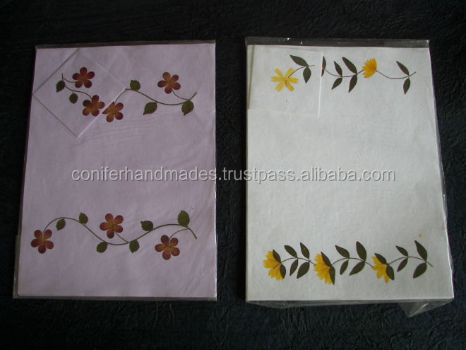 dried flower handmade paper laminated table mats ideal for home stores