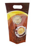 3 side seal plastic bag with zip/ 3 side seal ziplock bag/ 3 side seal coffee bag with hang