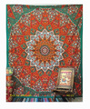 Twin Bedspread Cotton Printed Single Dorm Bed Cover Manufacturing Tapestries Indian Tapestry