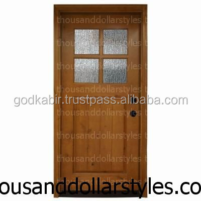 Multi design Wooden main door with special feature and the africian design based 36 in. x 80 in. Cottage 4 Lite Rain Stained dor