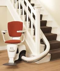Chair Stair Lift - Curved Staircase