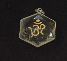 Buy Online Engraved Pendants Pentagram Crystal Om Pendants