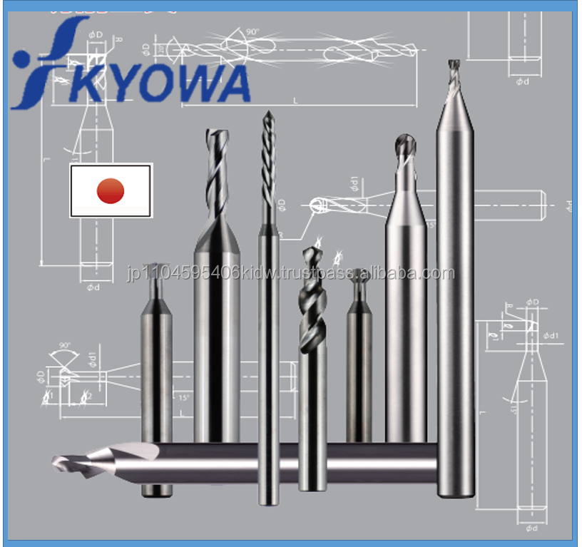 High quality and Easy to use hss Kyowa end mill at reasonable prices