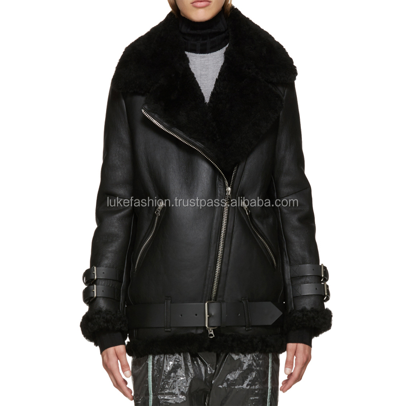 Latest style women 100% lambskin soft leather motorcycle jacket for men