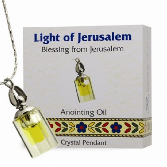 ANOINTING OIL CRYSTAL PENDANT - SMALL BOTTLE