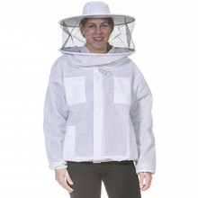 Ventilated Bee Jacket With Round Veil/Three Layer beekeeper jacket Cool Mesh Bee Jacket
