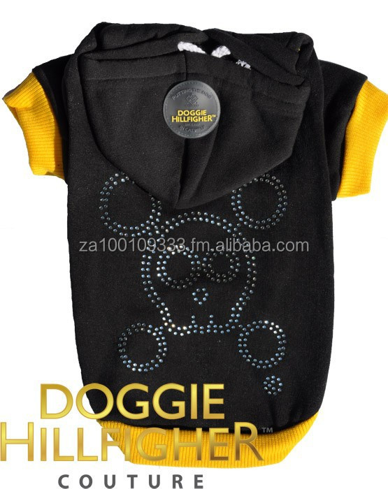 Clothes for Dogs - Skull Diamante Hoodie, low MOQ