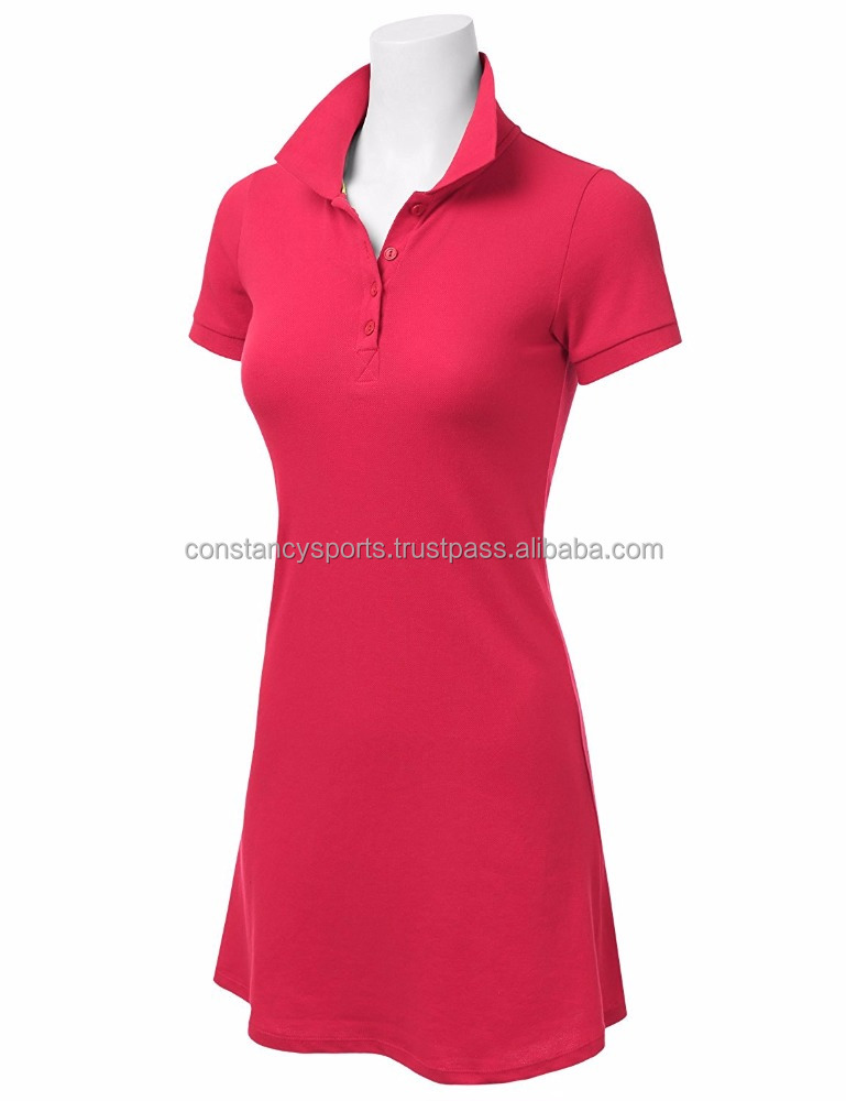 Customized Women's Short Sleeve Polo Shirt Mini Shift Dress (Various Colors) Ladies Plus Sizes Polo Shirt Bodycon ladies