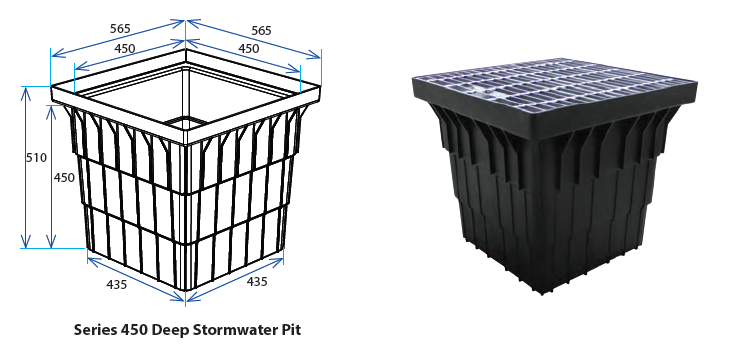 450D Stormwater Pit with Class A Grate