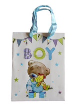 Beautiful and large size Kraft Baby Shower Return Gift Paper Bags Its a Boy Big Size,cheap price.