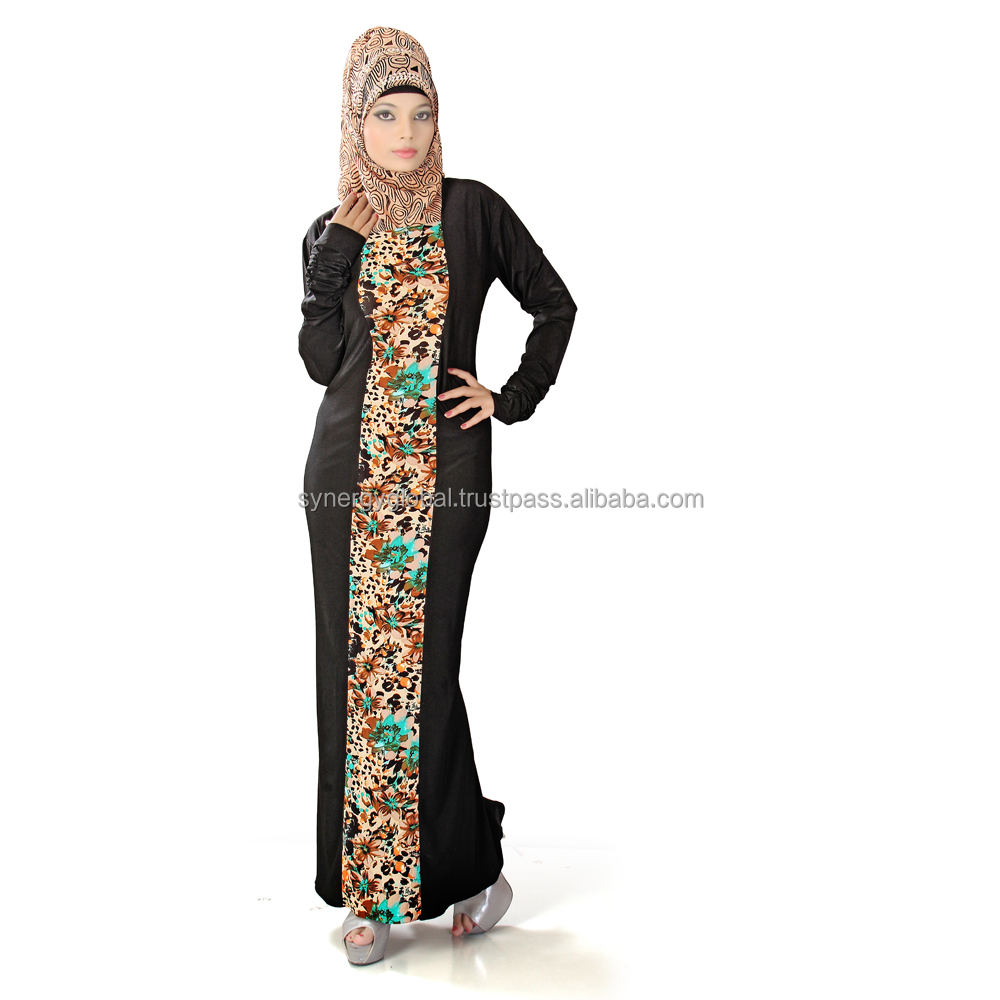 Printed style islamic abaya- Muslim clothing wholesale