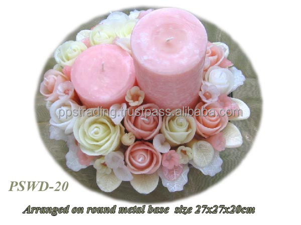 Aroma flower candle