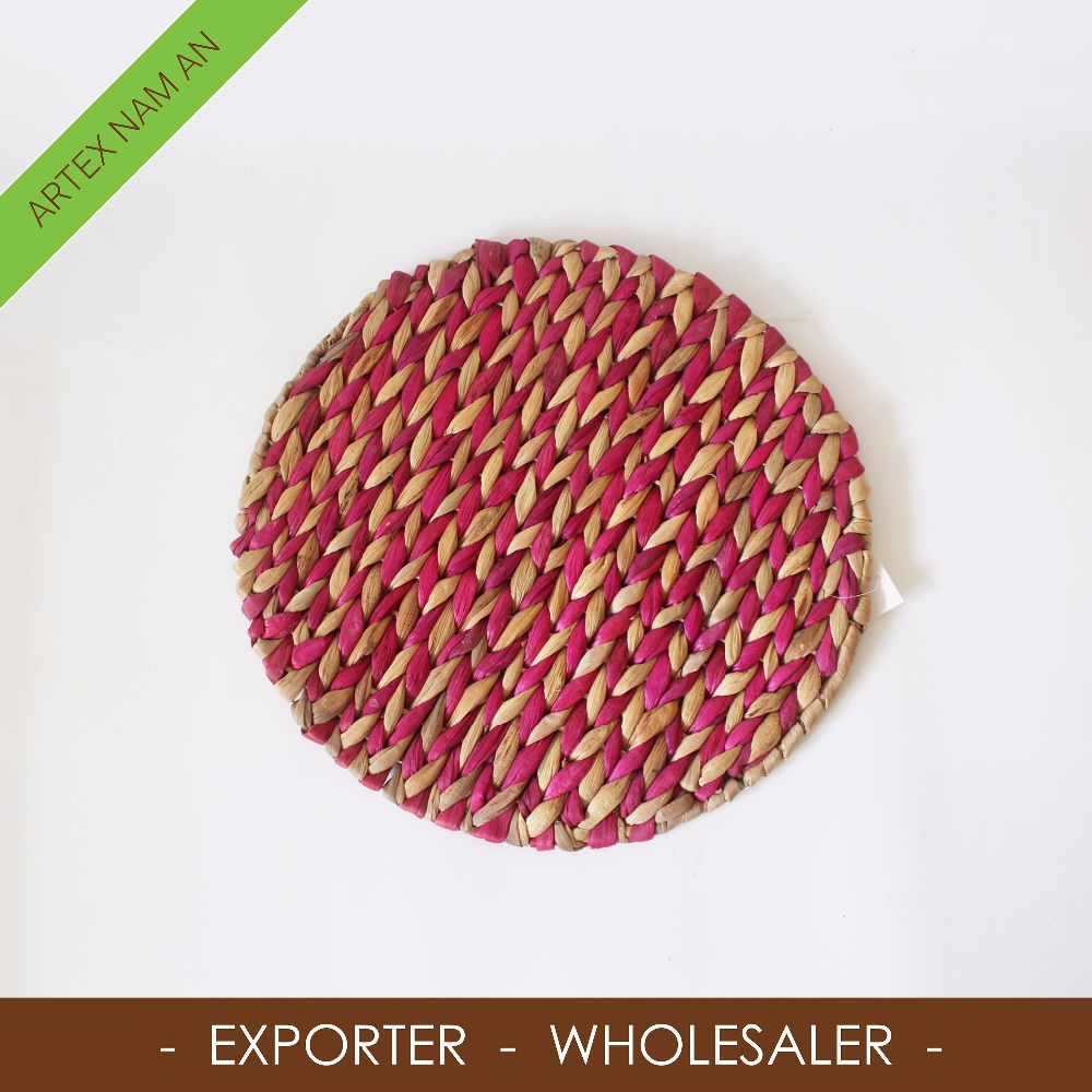 Hand woven Natural seagrass mat, seagrass coaster in Vietnam