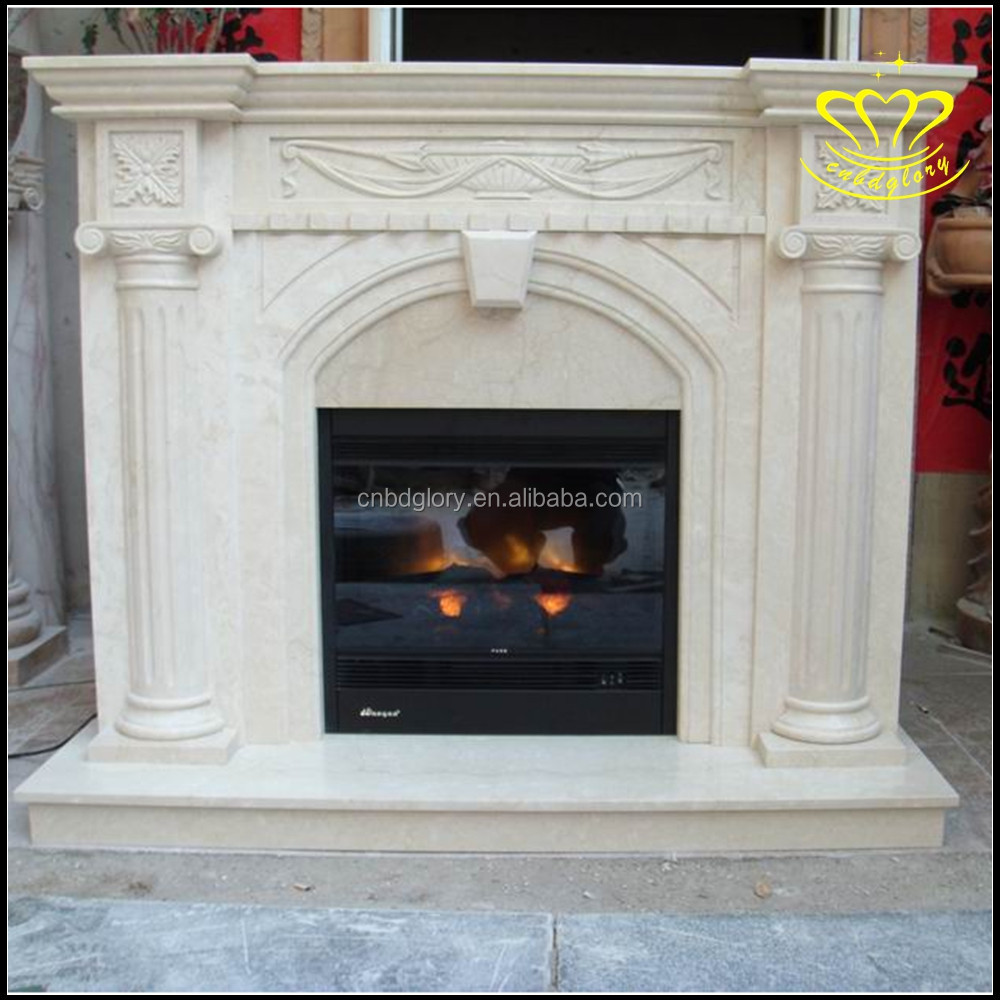 Wholesale best selling home& garden decor stone sculpture New product Natural marble fireplace