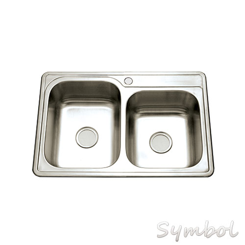 SS-3322A Stainless Steel Double Bowl Kitchen Sink