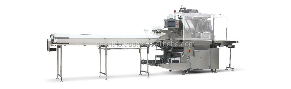 Pillow Pack Packaging Wrapping Equipment Horizontal Flow Fresh Fruit Tray Wrapper Automatic Vegetable Bags Packing Machine