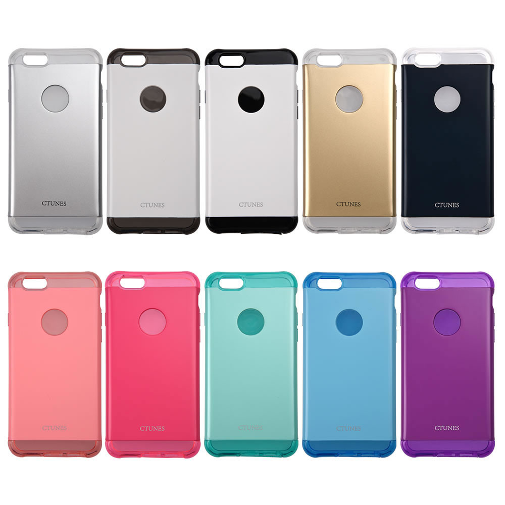 C&T Dual Layer Plastic Back Cover Soft TPU Bumper Mobile Phone Case For apple iphone 6s