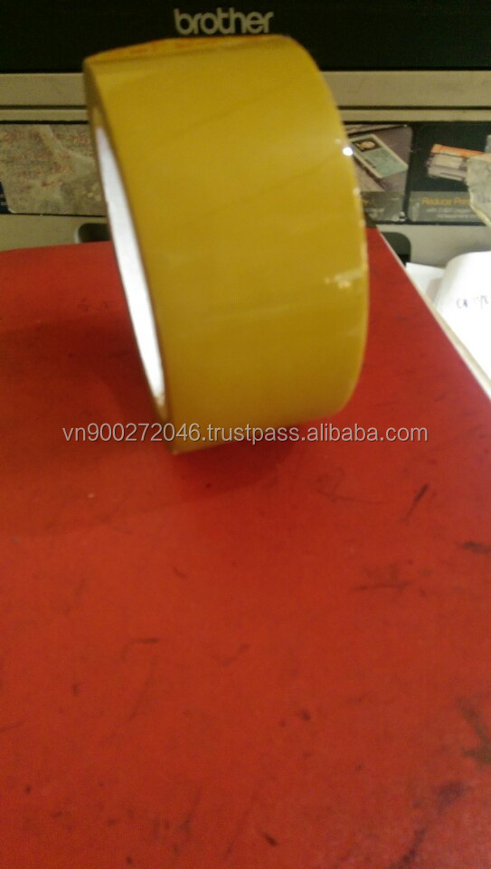 Hotmelt glue yelowest color OPP packing tape