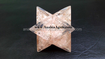 Rose Quartz Orgone Merkaba Star Big size : Wholesale orgonite Merkaba star