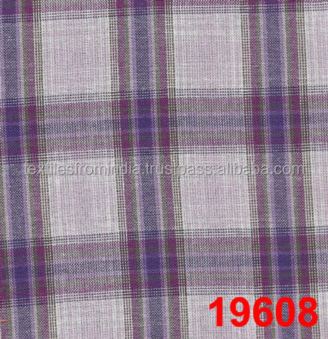 2016 Summer blue and white check fabric