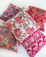 Indian indoor and outdoor decorative pillows, Hand made kantha decorative cushion /pillow, Ikat Floral handmade pillow/cushion
